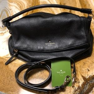 Kate Spade Pebble leather changeable strap bag